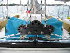 New traveler control system for our mainsheet