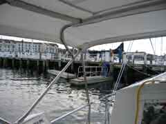 Pulling up docks in Newport