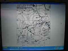 String of 5 lows on weather fax