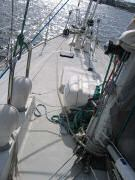 Backup rolling hitch secured around mast