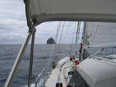 Approaching cut between Martinique and Diamond Rock