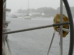 Ugly, cold, rainy weather in Barrington, RI