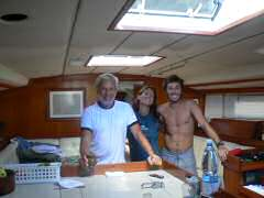 Daniel, owner of Tadeus, and Eugenia and his son, Lisandro
