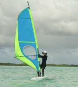 Beth trying her hand at wind surfing