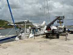 Eagles Wings docked at Curacao Marine