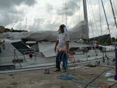 Hank, getting ready to paint hull
