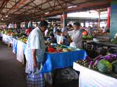 Abundance of food at Fijian market