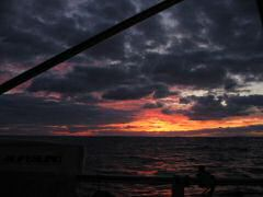 Beautiful Fijian sunset