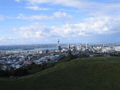 Looking east from the hills above Auckland