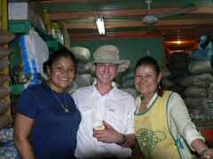Ken with JoAnne and Reinna at Panama market