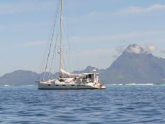 Moorea was a beautiful backdrop to our anchorage