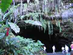 Entrance to sacred cave