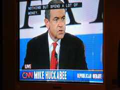 Huckabee making a point