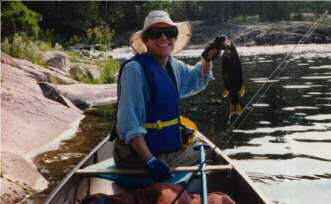 Beth with Small Mouth Bass