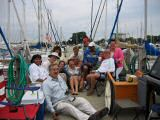 With Waukegan dock friends at send off party, August 2004